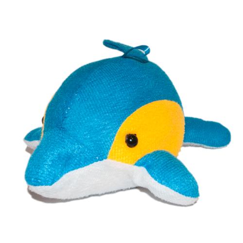 Delfin plüss játékfigura elölről