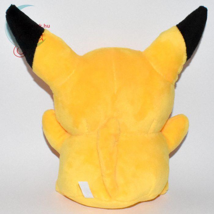 Pikachu nyitott szájú 18 cm-es plüss #2 - hátulról