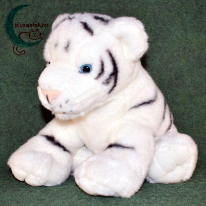 Hatalmas hófehér plüss tigris kölyök balról