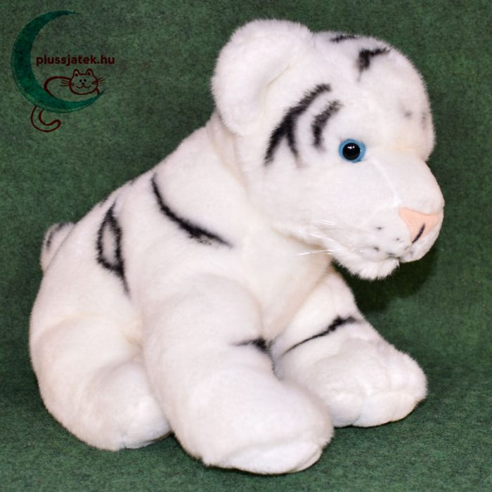 Hatalmas hófehér plüss tigris kölyök jobbról