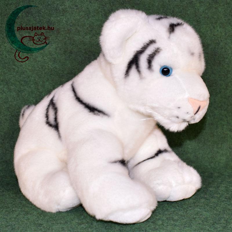 ... Hatalmas hófehér plüss tigris kölyök jobbról ... 4995317f53