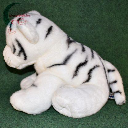 Hatalmas hófehér plüss tigris kölyök oldalról