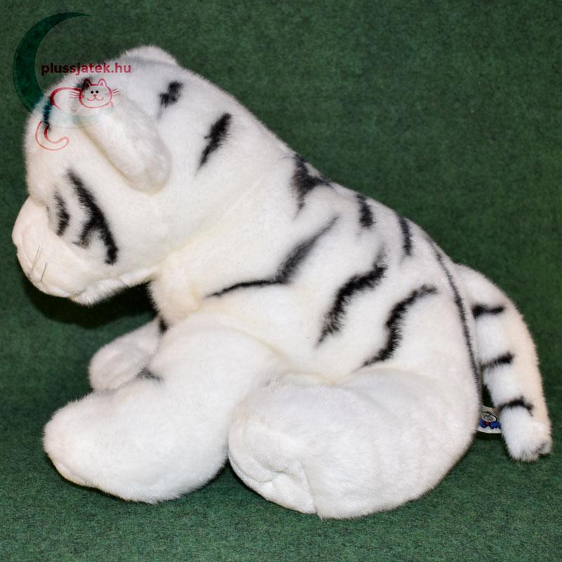 ... Hatalmas hófehér plüss tigris kölyök oldalról ... 29fdafd272