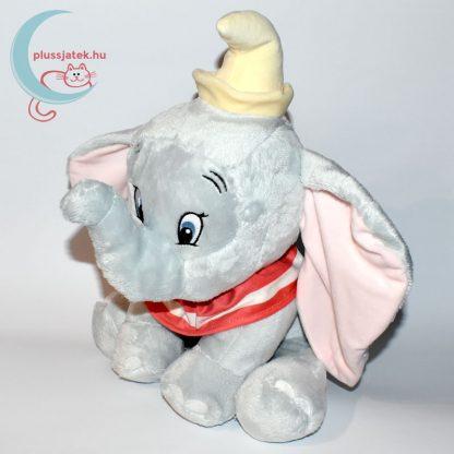 Nagy Dumbo elefánt plüss (30 cm) balról, piros kendővel