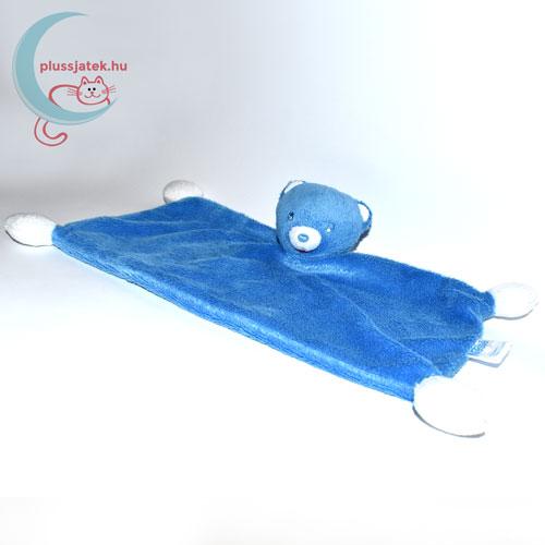 Nestlé kék plüss maci szundikendő balról