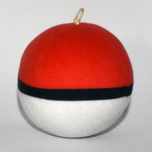 Pokémon plüss Pokélabda (Pokéball) hátulról