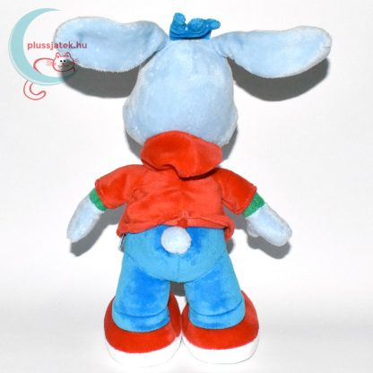 Bobo, kék színű plüss nyuszi hátulról