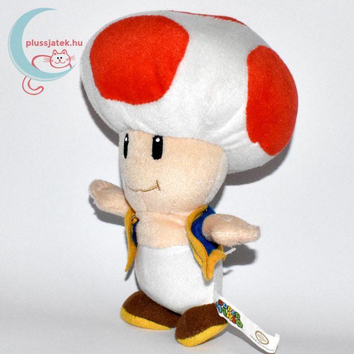 Kék mellényes Toad plüss (Super Mario) balról
