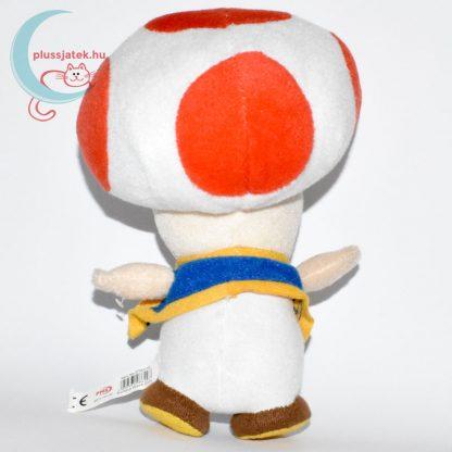 Kék mellényes Toad plüss (Super Mario) hátulról