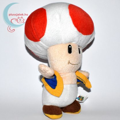 Kék mellényes Toad plüss (Super Mario) jobbról