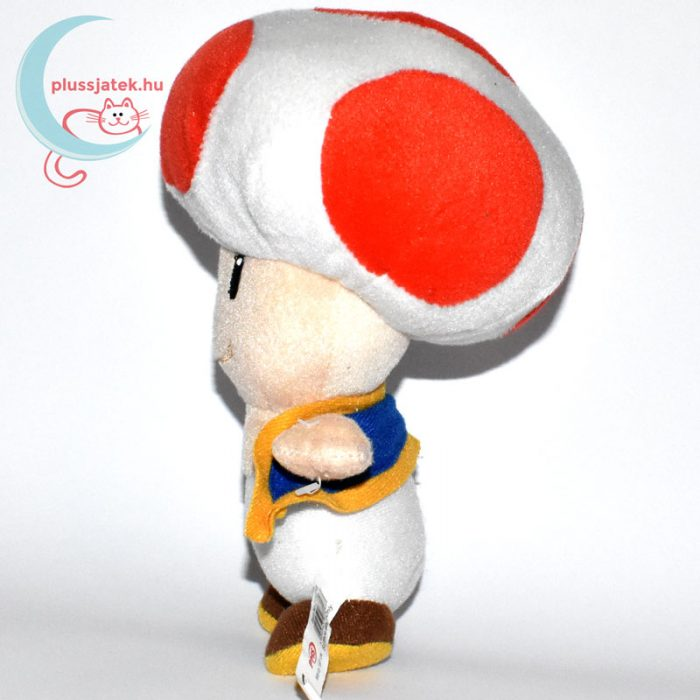 Kék mellényes Toad plüss (Super Mario) oldalról