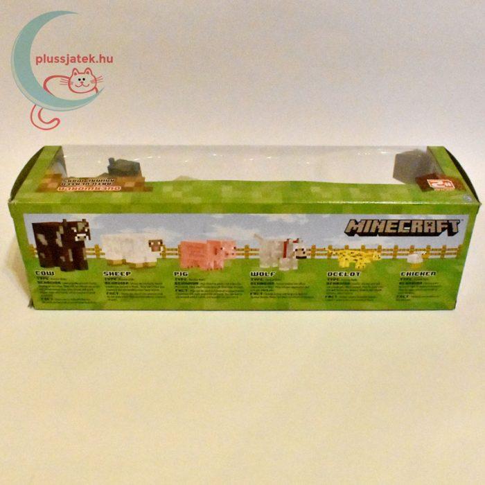 Minecraft - Állatok 6 db-os készlet hátulról