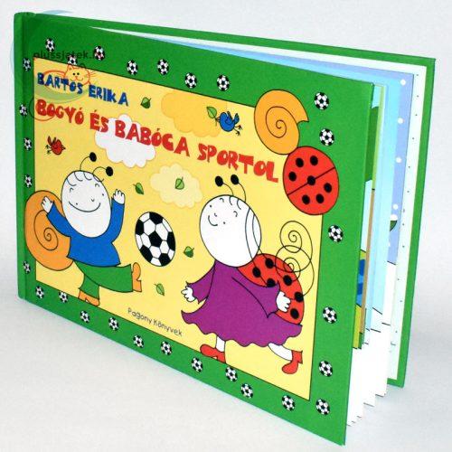 Bartos Erika - Bogyó és Babóca sportol könyv oldalról
