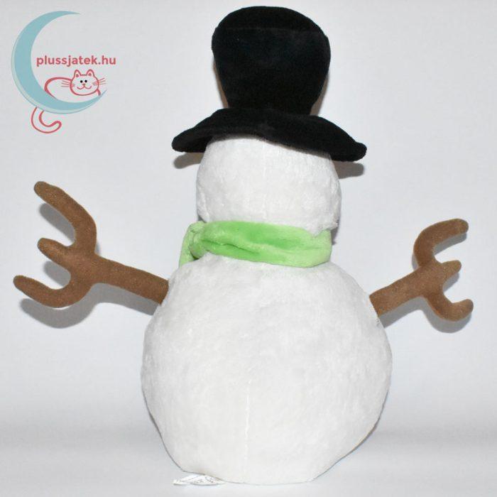 Kalapos hóember plüss hátulról