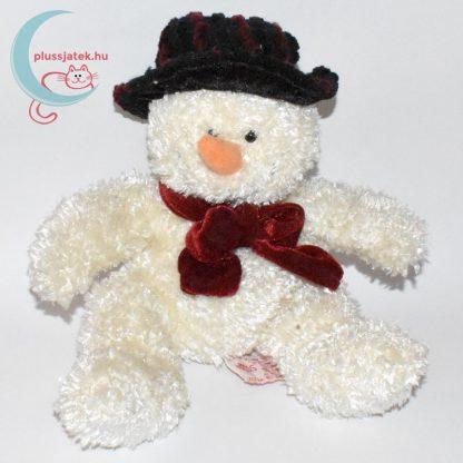 Csokornyakkendős kalapos plüss hóember