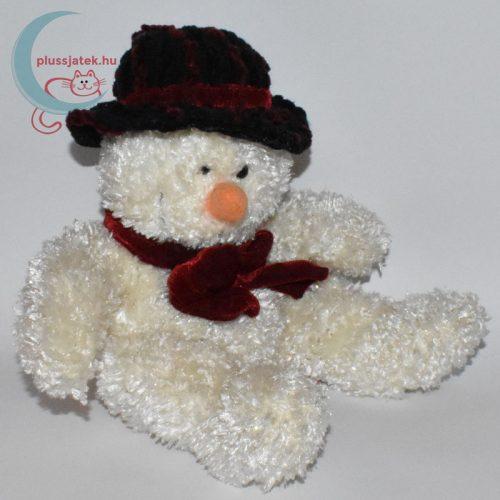 Csokornyakkendős kalapos plüss hóember jobbról