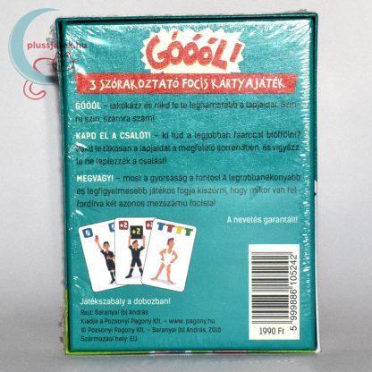 Góóól! focis kártyajáték (3 játék 1-ben) hátulról