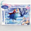 Jégvarázs ékköves 104 darabos puzzle (Frozen Clementoni kirakó)