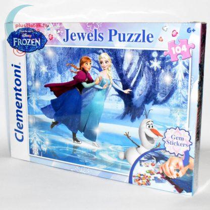 Jégvarázs ékköves 104 darabos puzzle (Frozen Clementoni kirakó) balról