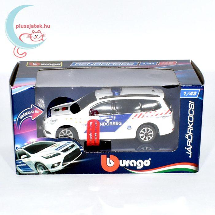 Bburago rendőrautó, járőrkocsi (Ford Focus)