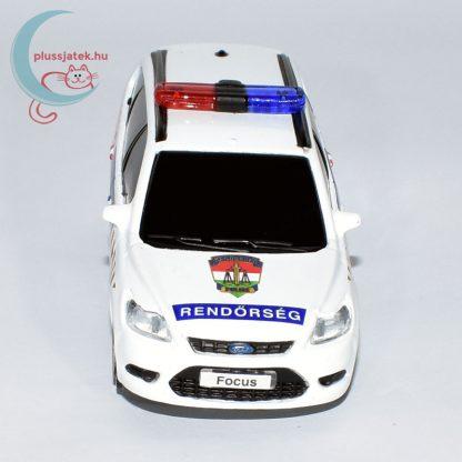 Bburago rendőrautó, járőrkocsi (Ford Focus) elölről
