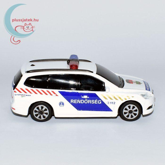 Bburago rendőrautó, járőrkocsi (Ford Focus) oldalról