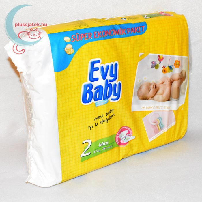 Evy Baby (2-es, mini), 3-6 kg, 80 db-os pelenka jobbról