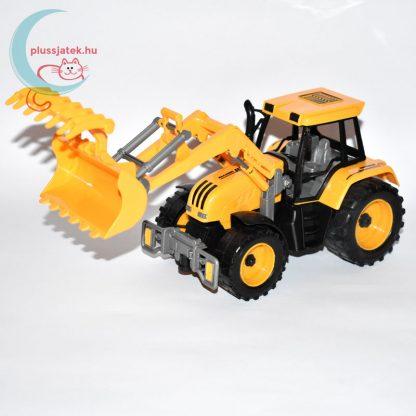 Traktor játék homlokrakodóval balról