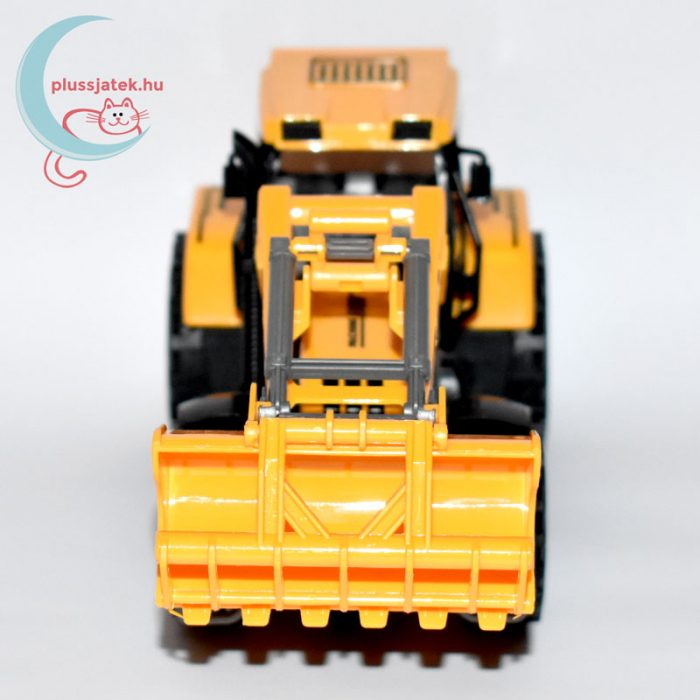Traktor játék homlokrakodóval elölről