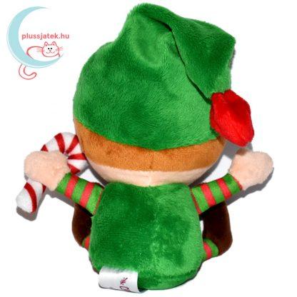 Elfie, a plüss karácsonyi manó hátulról