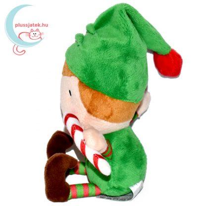 Elfie, a plüss karácsonyi manó oldalról