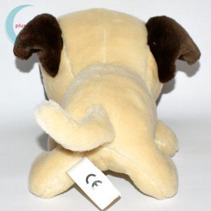 Nagyfejű plüss mopsz kutya (The Dog sorozat) hátulról