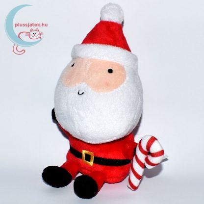 Plüss télapó karácsonyi kampó alakú nyalókával jobbról