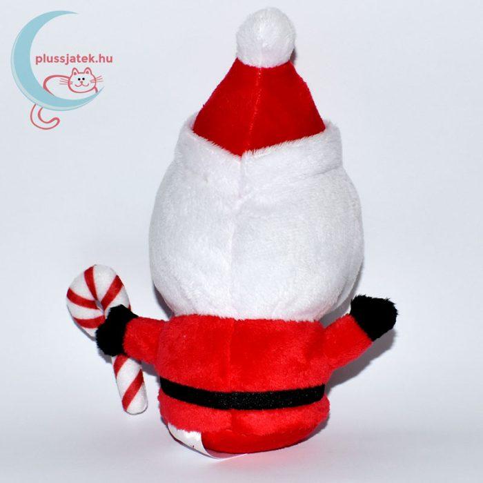 Plüss télapó karácsonyi kampó alakú nyalókával hátulról