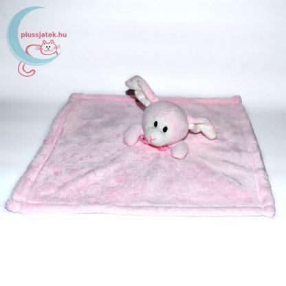 Snuggz rózsaszín nyuszi alvókendő csinos nyakkendővel kiterítve