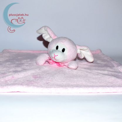 Snuggz rózsaszín nyuszi alvókendő csinos nyakkendővel közelről