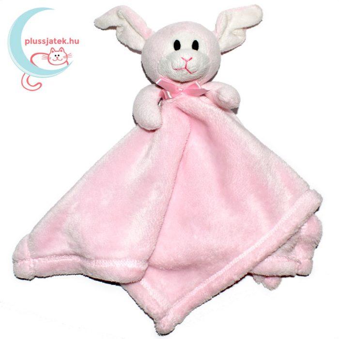 Snuggz rózsaszín nyuszi alvókendő csinos nyakkendővel összehajtva