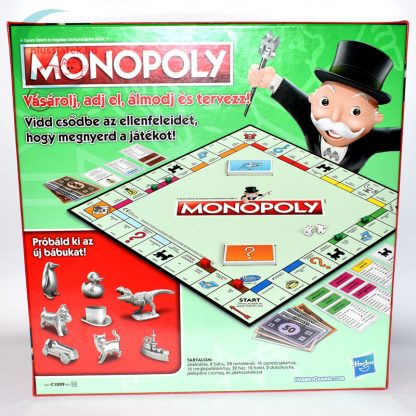 Klasszikus Monopoly (új kiadás) hátulról