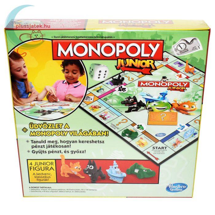Monopoly Junior társasjáték hátulról