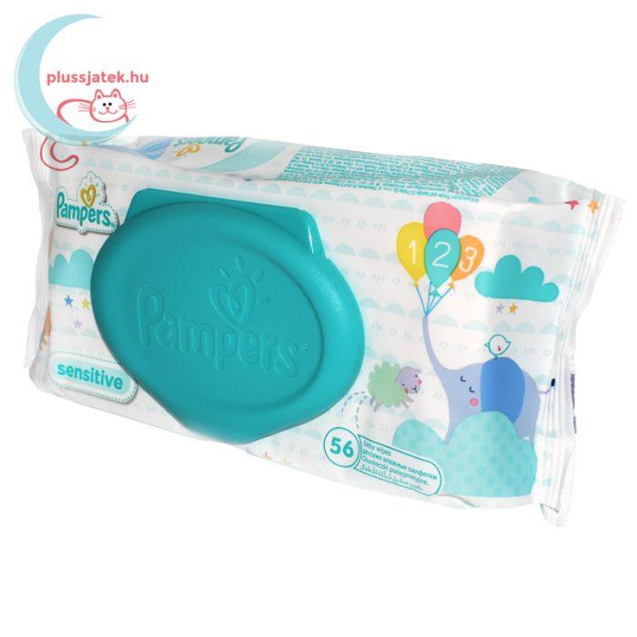 Pampers Sensitive baba törlőkendő - kupakos (56 db) balról