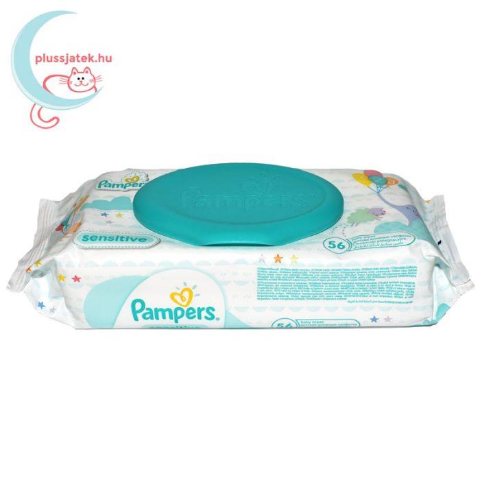 Pampers Sensitive baba törlőkendő - kupakos (56 db) oldalról