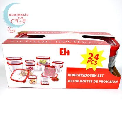 12 részes ételtároló doboz szett (Excellent Housware)