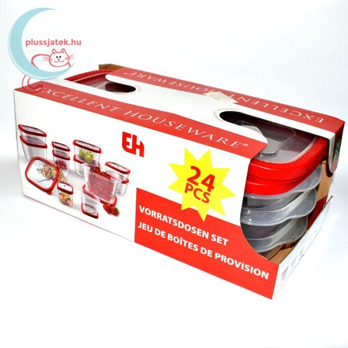 12 részes ételtároló doboz szett (Excellent Housware) balról