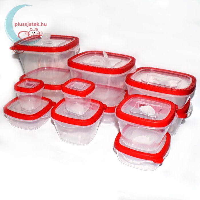 12 részes ételtároló doboz szett (Excellent Housware) oldalról