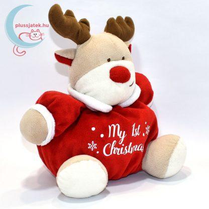My 1st Christmas csörgős plüss rénszarvas jobbról