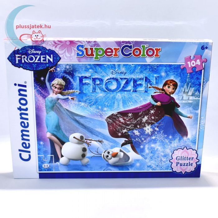 Frozen (Jégvarázs) csillámos puzzle, 104 db - Anna, Elsa, és Olaf