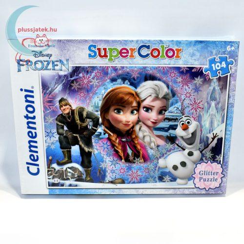 Frozen (Jégvarázs) csillámos puzzle, 104 db - Az északi hegyvidék királynője