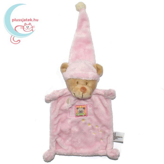 Nicotoy hálósapkás, ablakos maci szundikendő - rózsaszín