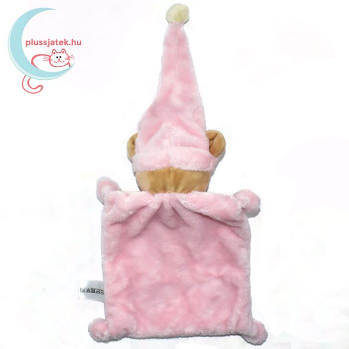 Nicotoy hálósapkás, ablakos maci szundikendő - rózsaszín, hátulról