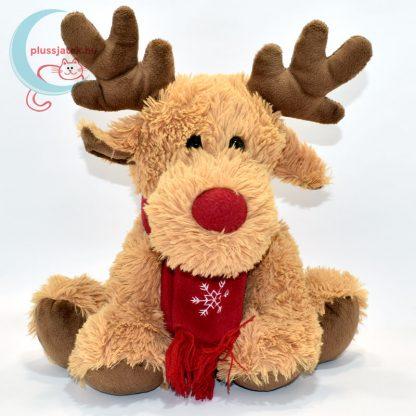 Vörös orrú, sálas plüss Rudolf szarvas